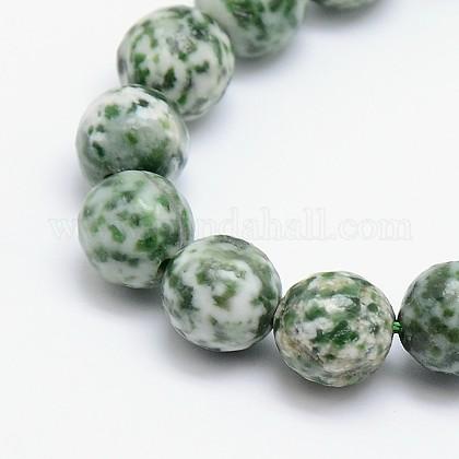 Chapelets de perles en jaspe à pois verts naturelsG-L148-10mm-01-1