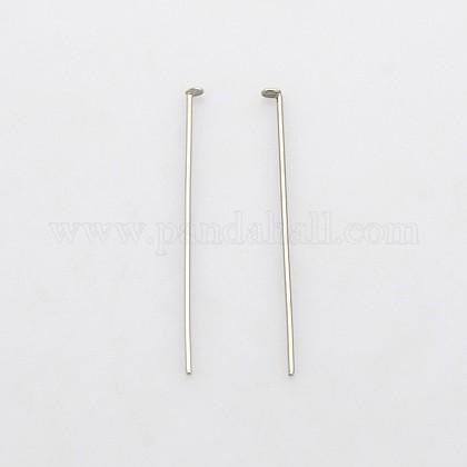 304 Stainless Steel Flat Head PinsSTAS-N033-0.6x30mm-1