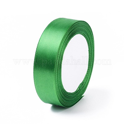 1 inches(25mm) Green Satin Ribbon for Hairbow DIY Party DecorationX-RC25mmY019-1