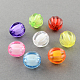Transparent Acrylic Beads, Bead in Bead, Round, Pumpkin, Mixed Color, 10mm, Hole: 2mm; about 1100pcs/500g