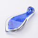 Box-packed Handmade Dichroic Glass Big PendantsDICH-X047-01-3