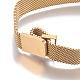 Stainless Iron Mesh Chain Bracelet MakingMAK-E667-01G-2