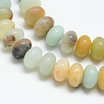 Natural Amazonite Bead Strands, Rondelle, 8x5mm, Hole: 1mm; about 75pcs/strand, 15.3