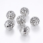 CCB Plastic Beads, Round, Antique Silver, 23x23mm, Hole: 3.5mm
