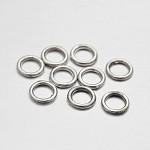 Aleación de enlace rings, Platino, 6x0.8mm