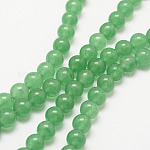 Natural Green Aventurine Bead Strands, Round, Dyed, 8mm, Hole: 1mm, about 48pcs/strand, 15.7 inches