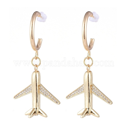 Brass Dangle Stud Earrings EJEW-JE04112-01-1