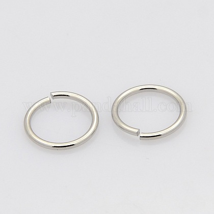 304 Stainless Steel Close but Unsoldered Jump RingsSTAS-N015-10-7x1mm-1