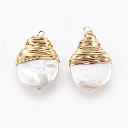 Colgantes naturales de perlas cultivadas de agua dulcePEAR-P059-O01-1