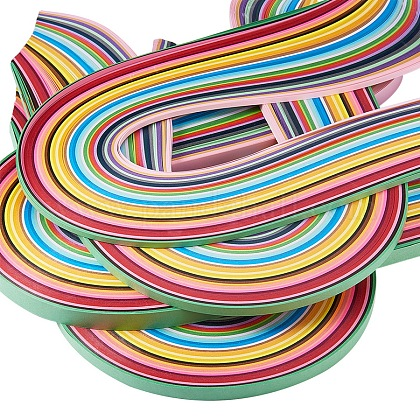 Rectangle 36 Colors Quilling Paper Strips Sets DIY-PH0008-03-1