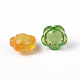 Mixed Color Transparent Faceted Flower Acrylic BeadsX-TACR-S104-M-6