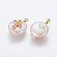 Colgantes naturales de perlas cultivadas de agua dulcePEAR-L027-14D-2