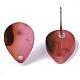 Fornituras de pendiente de botón de acetato de celulosa (resina)KY-R022-025-4