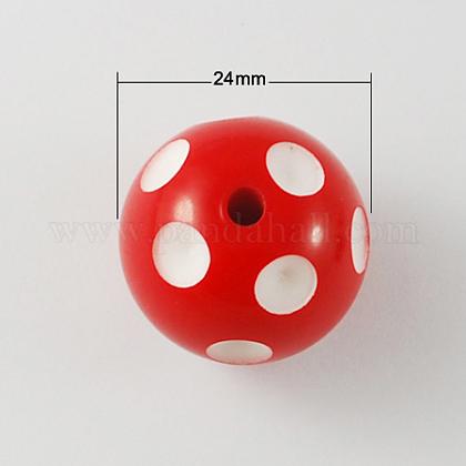 Bolas de acrílico de chicle gruesoSACR-S146-24mm-11-1