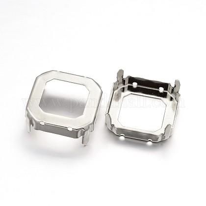 Square Brass Rhinstone Claw SettingsKK-N0084-06-23x23-1