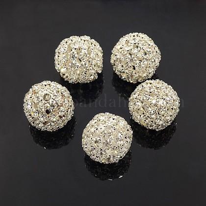 Abalorios de Diamante de imitación de latónRSB081-S-1