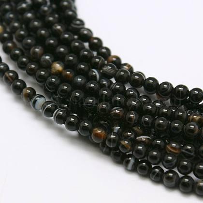 Natural Agate Bead StrandsX-G-A130-2mm-K01-1