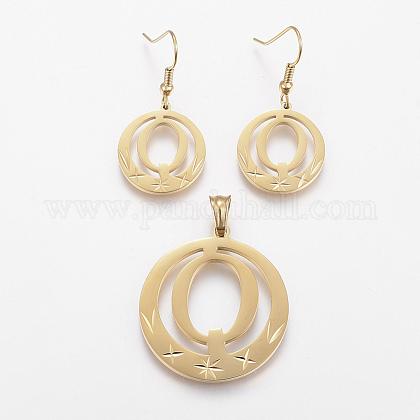 304 Stainless Steel Jewelry SetsSJEW-H120-Q-1