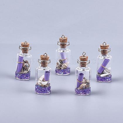Decoraciones pendientes de cristal de la botella que deseaGLAA-S181-02A-1