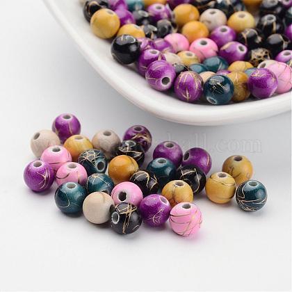 Drawbench mixte perles rondes acryliqueX-DACR-PAB274Y-M-1