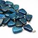 Trapezoidales teñido colgantes de piedras preciosas naturalesX-G-Q359-03-1
