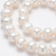 Grado de hebras de perlas de agua dulce cultivadas naturalesPEAR-L001-B-08-3