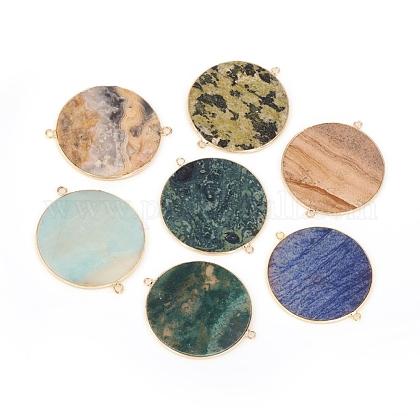 Conectores de enlaces de piedras preciosas naturalesG-L514-021-1