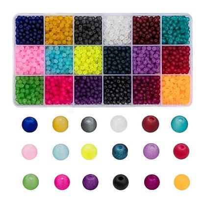 18 farbige transparente GlasperlenFGLA-X0001-04A-4mm-1