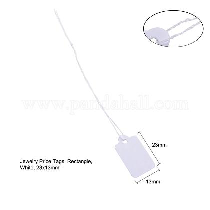 白い長方形のジュエリーの値札TOOL-C003-02-1