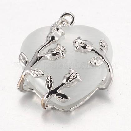 Valentine Idea for Her Gifts Cat Eye PendantsCE-H006-05-1