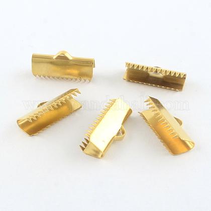 304ステンレス鋼リボンカシメエンドパーツSTAS-R063-91G-1