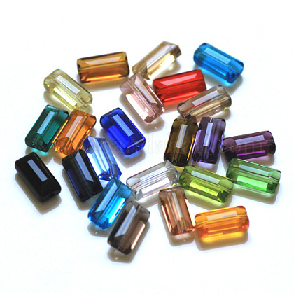 Imitation Austrian Crystal BeadsSWAR-F081-6x12mm-M-1