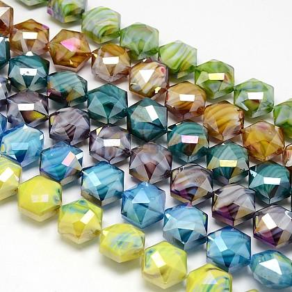 Hilos de abalorios de vidrio millefiori artesanalLK-F001-M2-1