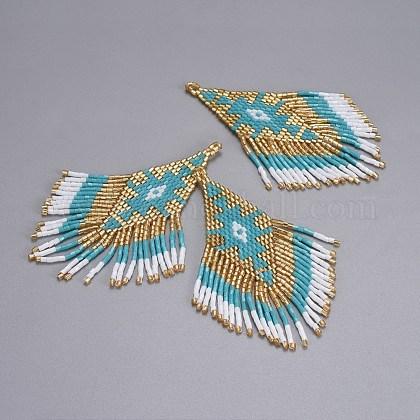Handmade Japanese Seed Beads Tassels PendantsSEED-P003-03A-1