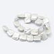 Hebras de perlas keshi de perlas barrocas naturalesPEAR-K004-42-2