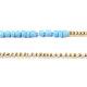 Glass Seed Beads Chain BeltsNJEW-C00010-4