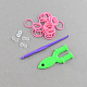 DIY Rubber Loom Bands Refills with Accessories X-DIY-R011-02-2