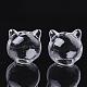 Handmade Kitten Blown Glass Globe BeadsGLAA-Q077-01-1