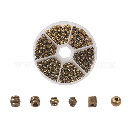 Abalorios entrepieza de estilo tibetanoTIBEB-JP0001-01AB-1