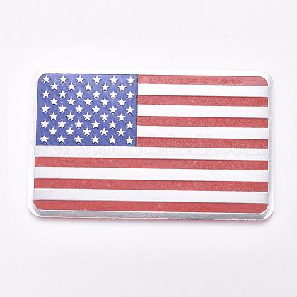 Etiqueta de la bandera americana de los estados unidos de aleación de aluminioAJEW-WH0113-64B-1