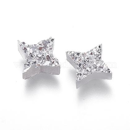 Perlas de resina de piedras preciosas druzy imitaciónRESI-L026-H01-1