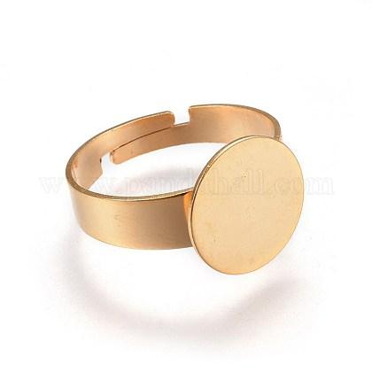 Componentes de anillos de dedo de 304 acero inoxidable ajustablesSTAS-G187-02G-12mm-1