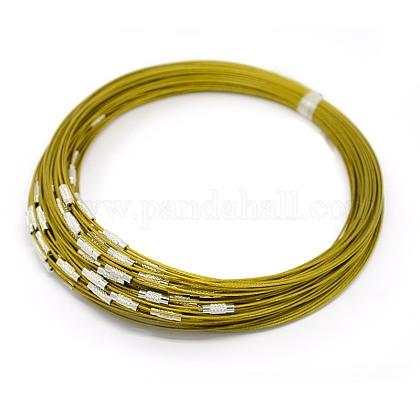 Steel Wire Necklace CordTWIR-SW001-6-1