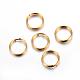 304 acero inoxidable anillos partidos, dorado, 5x1 mm; diámetro interior: 3.8 mm