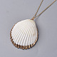 Pendentifs coquille colliersNJEW-JN02388-02-2