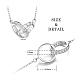 SHEGRACE® 925 Sterling Silver Pendant NecklacesJN633B-2