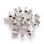 Tibetan Silver Bead Cone, Lead Free and Cadmium Free, Antique Silver, about 7mm wide, 10mm long, hole: 2mm