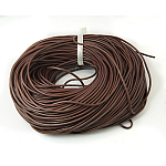 3mm SaddleBrown Color Cowhide Leather Beading Cords, DIY Jewelry Making Material for Leather Wrap Bracelets