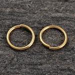 Настоящие кольца из позолоченного серебра, круглые кольца, обжимной но распаянный , золотые, 18 мм; 8x0.8 мм внутренний диаметр