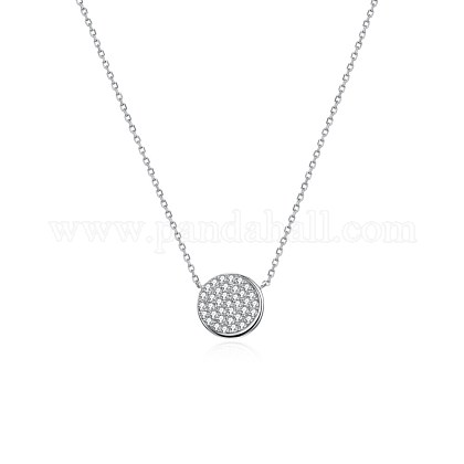 925 Sterling Silver Pendant NecklacesNJEW-BB34861-1